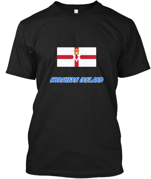 Northern Ireland Flag Artistic Blue Desi Black T-Shirt Front - This is the perfect gift for someone who loves Northern Ireland. Thank you for visiting my page (Related terms: I Heart Ireland,Ireland,Irish,Ireland Travel,I Love My Country,Ireland Flag, Ireland Map,Ireland Lan #Northern Ireland, #Northern Irelandshirts...)