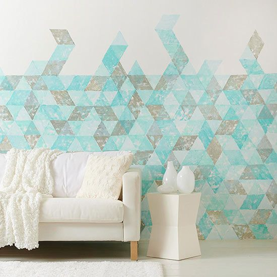 Paint your own geometric pattern! See how: http://www.bhg.com/decorating/paint/techniques/paint-techniques/?socsrc=bhgpin010214geometricwall