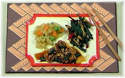 DYI DOLLHOUSE MINIATURES: February 2013 scroll down and see how to make mini chinese dinner with white glue...no way
