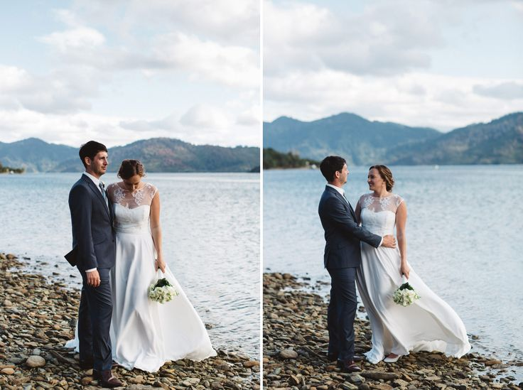 Classic Navy Suit for Groom, Karl and Emma in Nelson