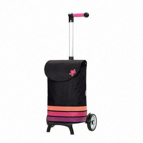 Poussette de marché - 2 roues - Unus Fun Blom - Roue étoile - Rose