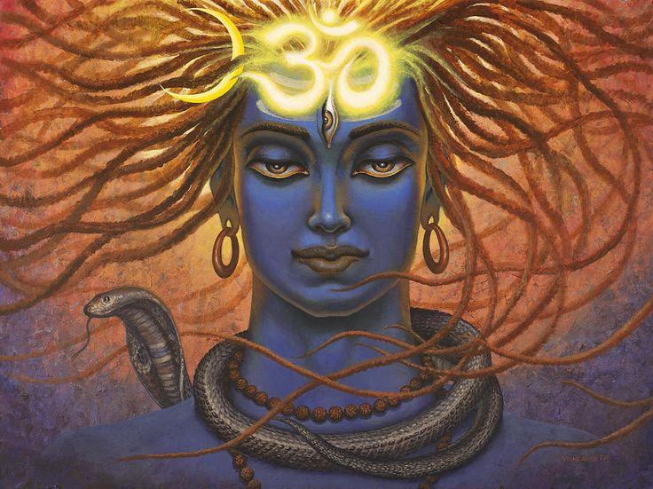 Shiva Om by Vrindavan Das - Shiva Om Painting - Shiva Om Fine Art ...