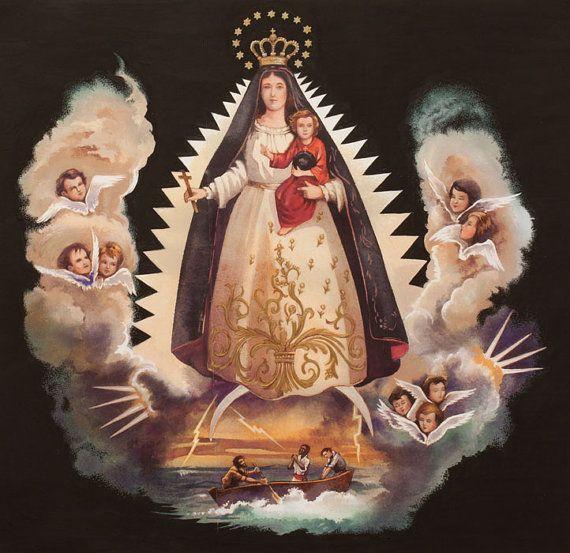 NEW La Virgen de la Caridad -  Alexander Henry Mexican Folklorico 1 Yard Fabric