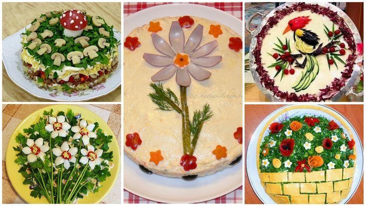 Mikor megláttam ezeket a csodás salátákat, szóhoz sem jutottam! Ezentúl így fogom díszíteni én is!