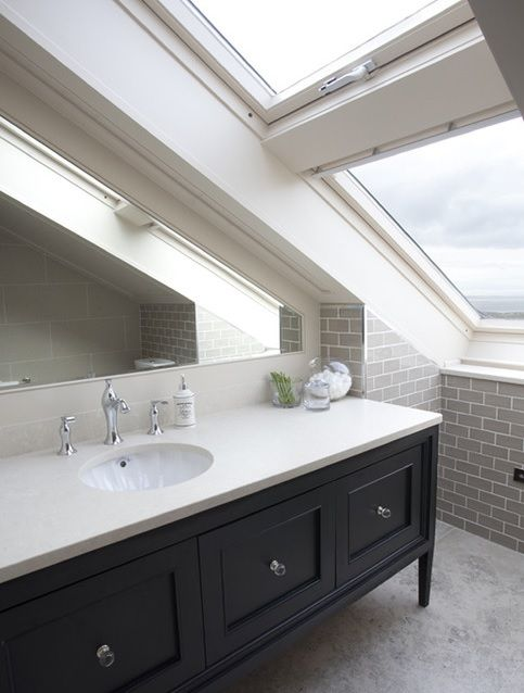 Gallery One Clean lines Bathroom Vanity Bathroom by Wall Morris Design