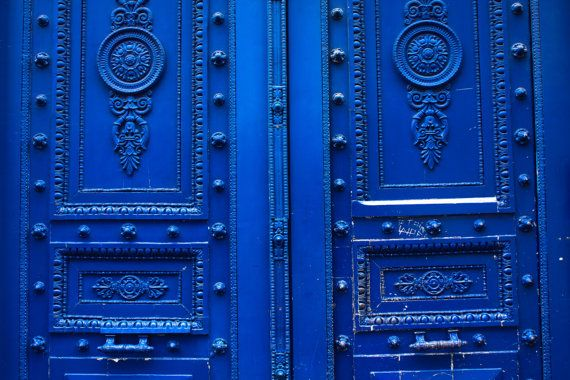 Monaco Blue Doors in Paris - 8x10 Fine Art Photograph - French Home Decor - Paris Photography - Door photography wall art