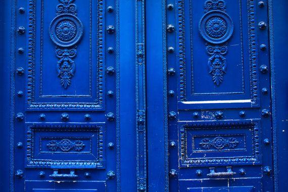 Arte della parete porte blu Monaco nella fotografia porta francese Home Decor - fotografia di Parigi - Parigi - Porte blu per le strade di Parigi - Parigi