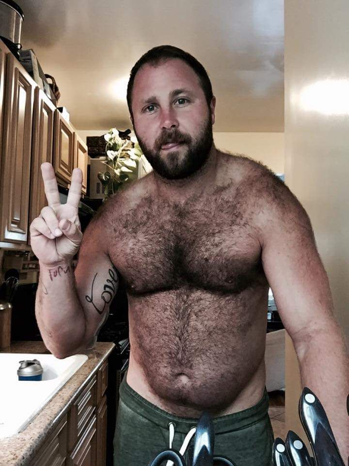 horny bear cub cumming all over his hot fur
