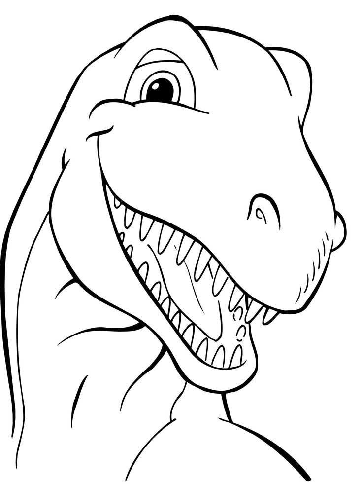 Head Dinosaurs Coloring Picture For Kids