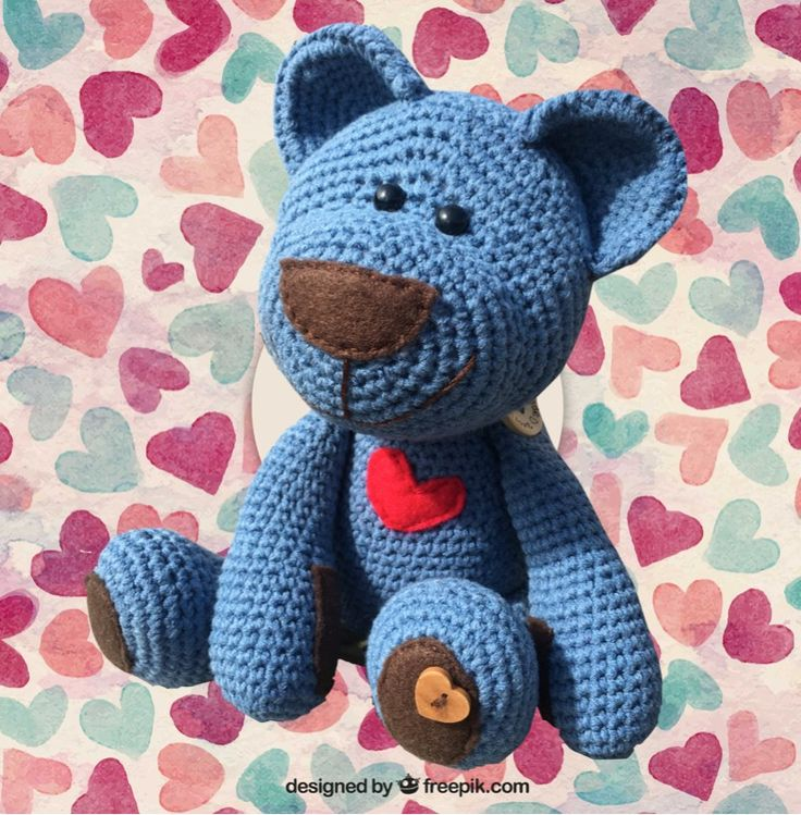 You can simply purchase a pattern for £2.75 or the kit for £18.00 to make this Sweetheart Denim Teddy which we have named Frankie. The Button Bear collection have moveable arms and legs so they are the ideal play mates for little ones. Super cute and even more huggable. Frankie has felt paw pads and a big red heart, and for extra love there are little love heart buttons on his foot and at the bottom of his back. He is just full of love. This sweetheart teddy is the same easy pattern as t...