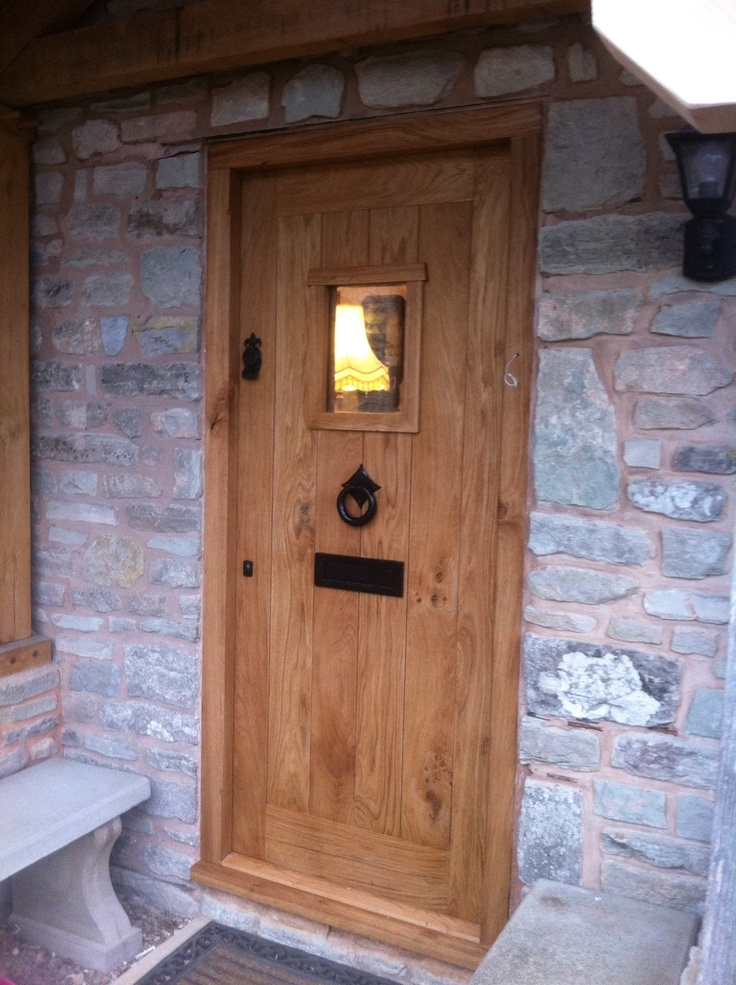 A solid oak door made by us - www.traditionaljoinery.co.uk