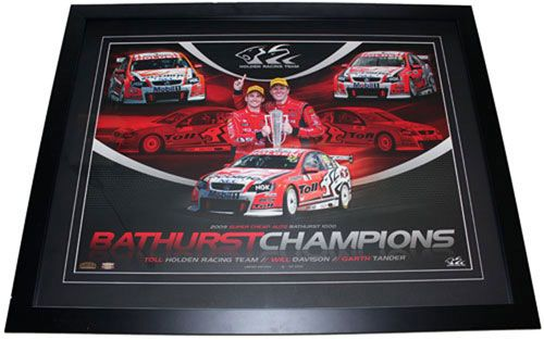 2009 Bathurst Champions Garth Tander and Will Davison from Holden Racing Team HRT. This is a limited edition print of 1000 and comes fully framed.
