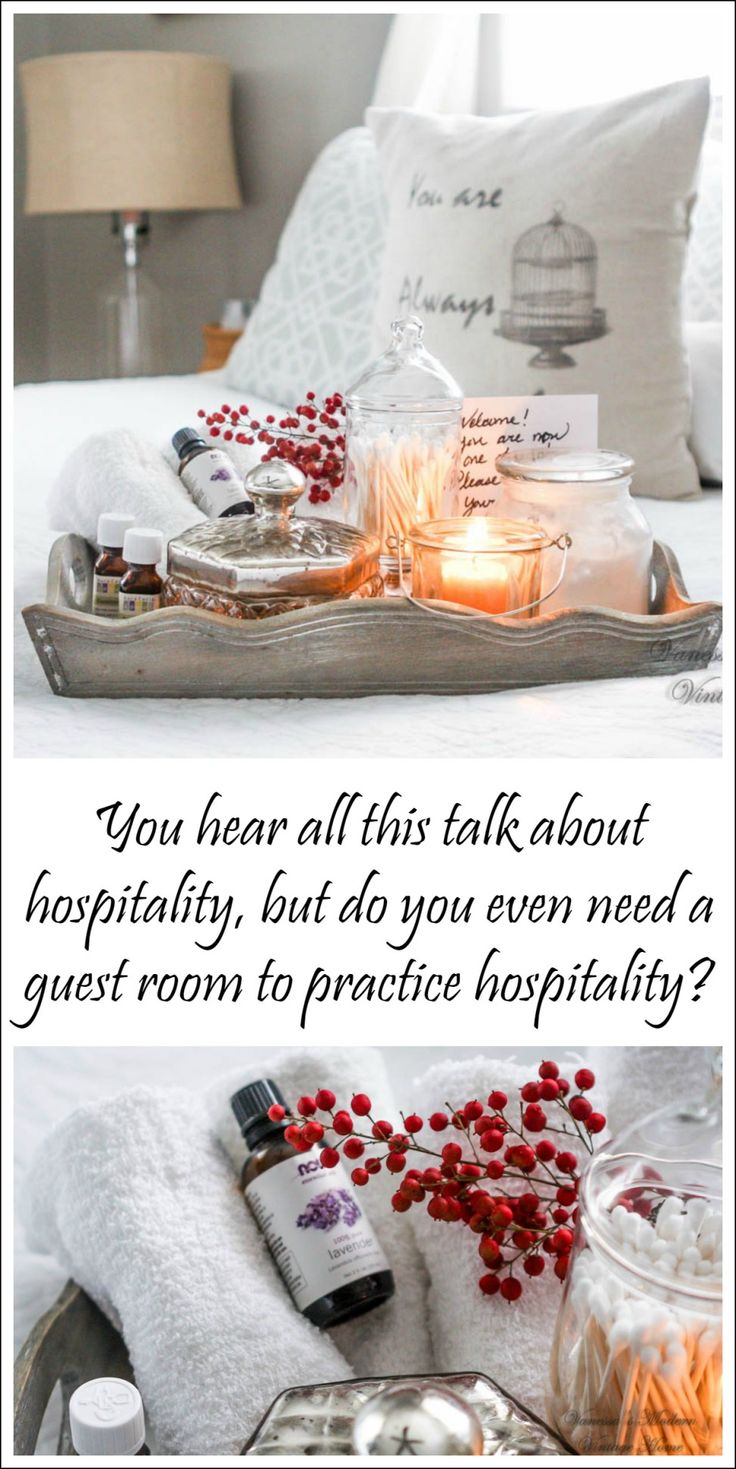 How to practice hospitality. Guest room basket. Guest room welcome basket.