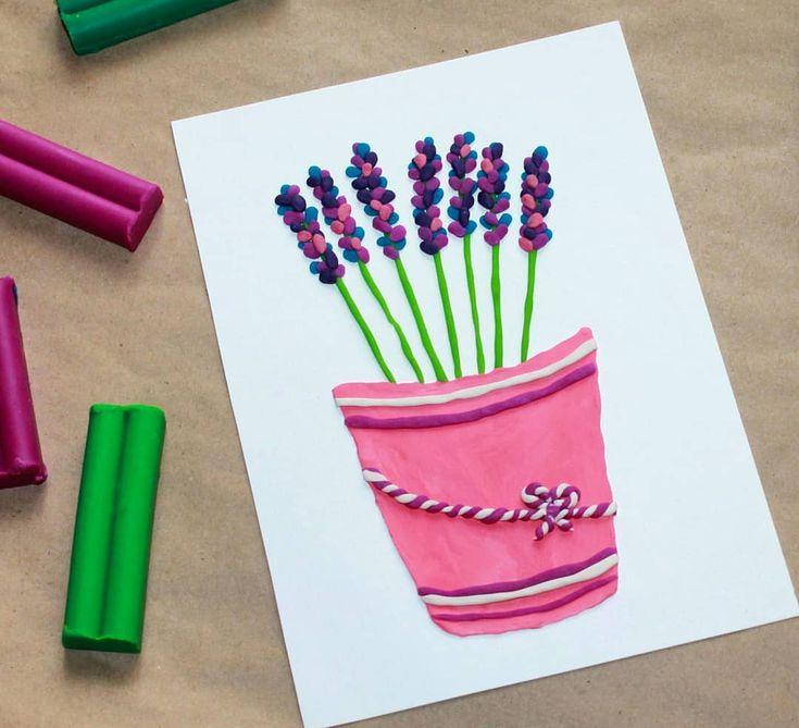 Как сделать открытку из пластилина, запор прикол смешные