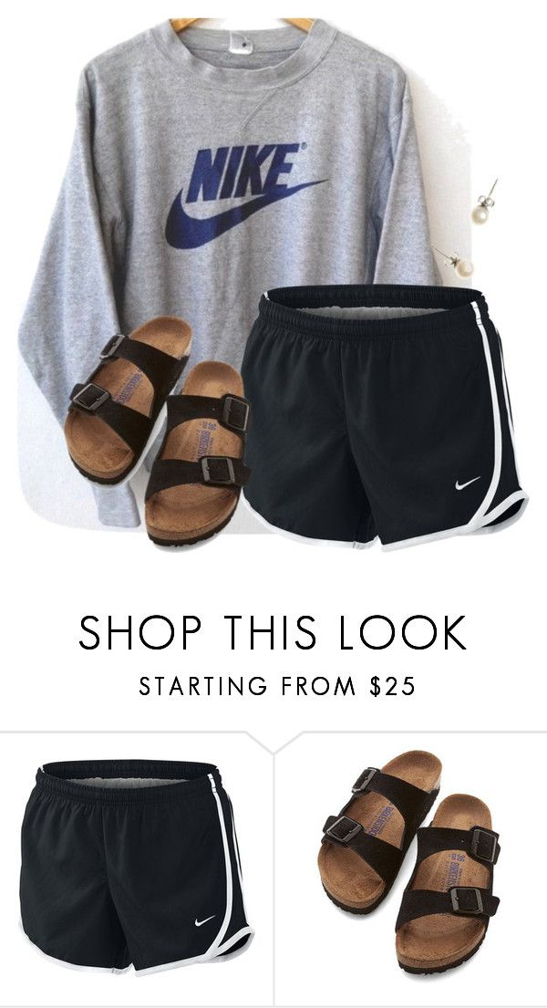 """Comment if you love Liza Koshy..."" by flroasburn on Polyvore featuring NIKE, Birkenstock and J.Crew"