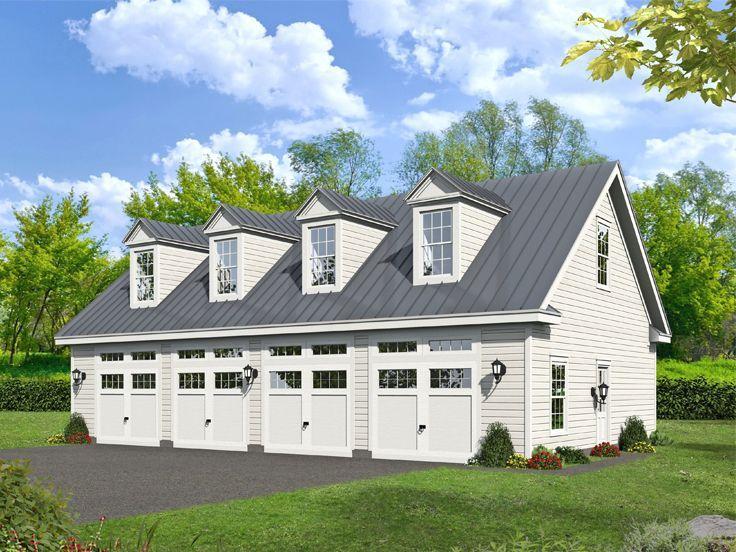 062g 0178 6 Car Garage Workshop Plan With Loft Garage Plans With Loft Garage Workshop Plans Garage Plans