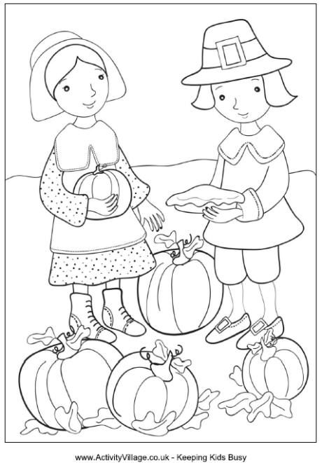 Thanksgiving Coloring Pages Activity Village Coloring Pages