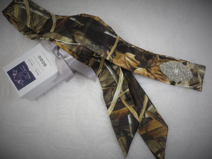 Realtree Camo Wedding or Prom Dress Sash