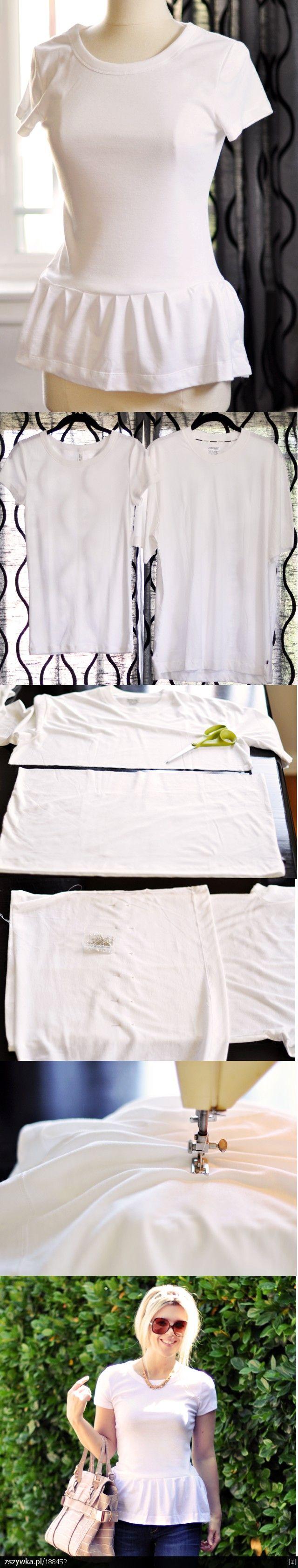 как из футболки сделать блузку