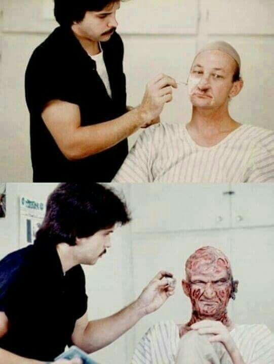 Robert Englund - Freddy Krueger! Wow I want someone to do that makeup for me.