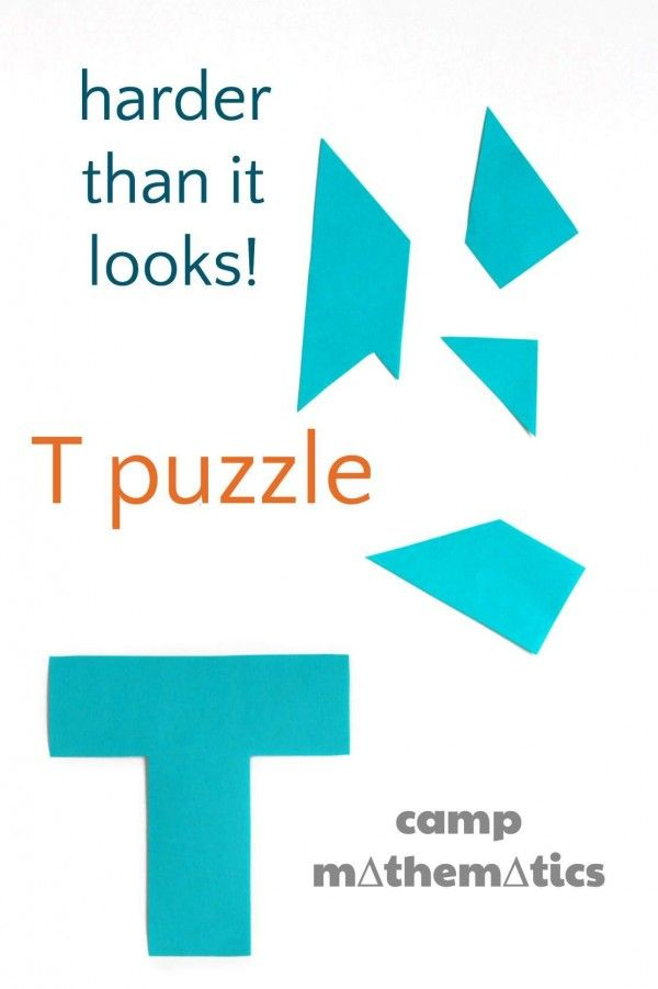 T Puzzle (Boggle Your Mathematical Mind) - group puzzle for the first week?