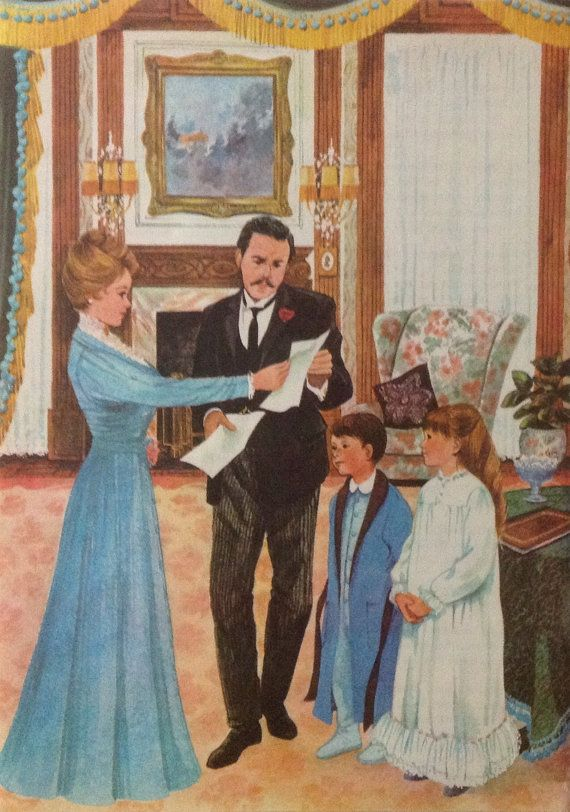 Victorian family print Vintage 1960s book by accoladefive on Etsy