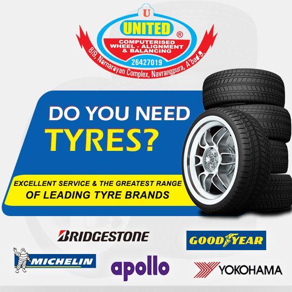 Do You Need Tyres? Excellent Service & the greatest range of leading tyre Brands.#Tyres #Bridgestone #GoodYear #apollo #Michelin #Yokohama #JKTyre #ContinentalTire #Ahmedabad