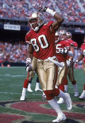 jerry rice | 29 Oct 2000: Jerry Rice #80 of the San Francisco 49ers celebrates ...