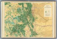 Economic map of Colorado - Map of natural resources.