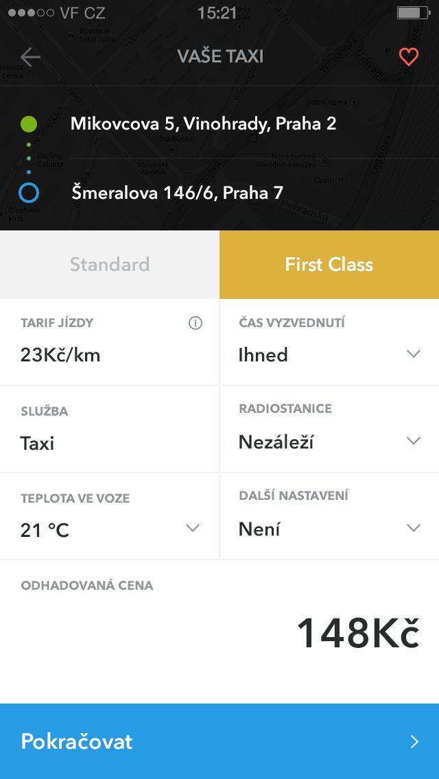 Taxi App iOS