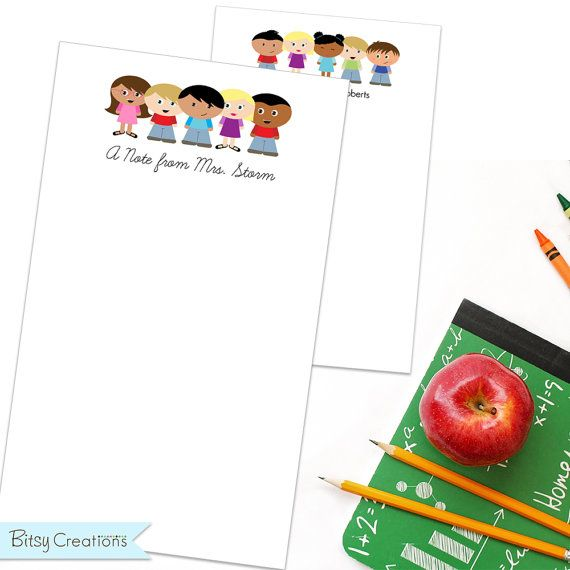 Personalized Teacher Notepad with 100 pages by by BitsyCreations