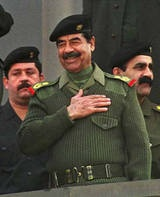 From 1980-88, Saddam Hussein led Iraq in a war against Iran which ended in a stalemate. During the 1980s, Saddam used chemical weapons against Kurds within Iraq, including gassing the Kurdish town of Halabja which killed 5,000 in March 1988. In 1990, Saddam ordered Iraqi troops to take the country of Kuwait. In response, the United States defended Kuwait in the Persian Gulf War. On March 19, 2003, the United States attacked Iraq. During the fighting, Saddam fled Baghdad. On December 13, 2003