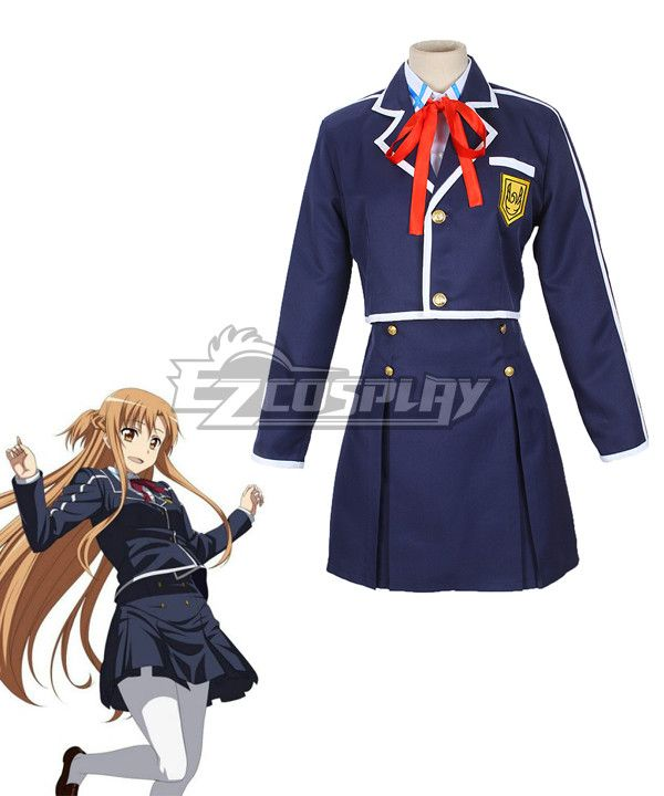 Pls email us if you need the costume, wig, shoes, weapon or other accessories of this character.  Email address: Ezcosplay@gmail.com Sword Art Online ALfheim Online SAO ALO Yuuki Asuna School Uniform Cosplay Costume - ESA0087