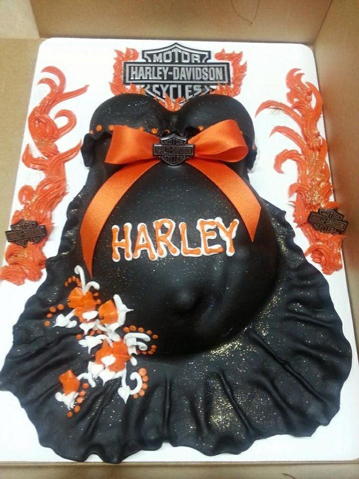 Harley Davidson Baby Bump (Belly) Cake