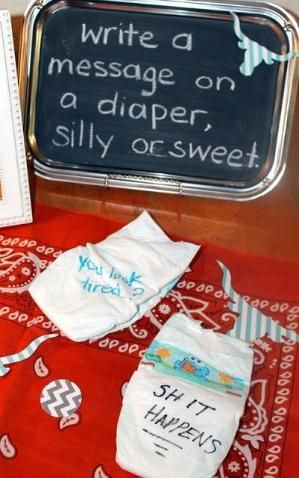 Baby Shower Ideas for your friends :) simple, silly, fun, baby shower game, great for couples shower. Tons of shower, wedding,  party ideas on this blog. And she has an etsy shop! by antwanette.westmoreland