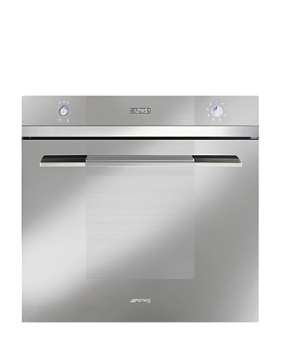 The Smeg sc107sg-8 fan assisted built in oven has a variable grill and is finished in glass and stainless steel. 2 years labour, 5 years parts warranty.