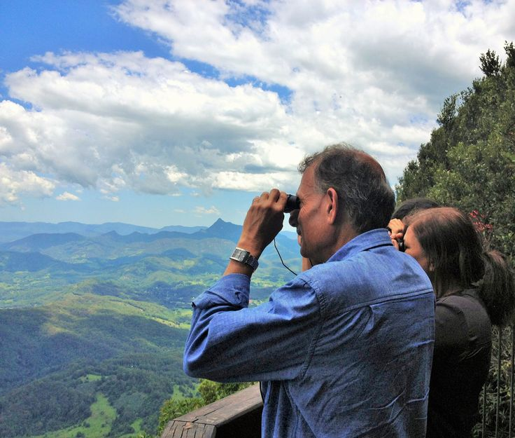 Admiring the view from the Best Of All Lookouts in Springbrook National Park