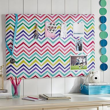 Multi Chevron Pin-It Pinboard #pbteen