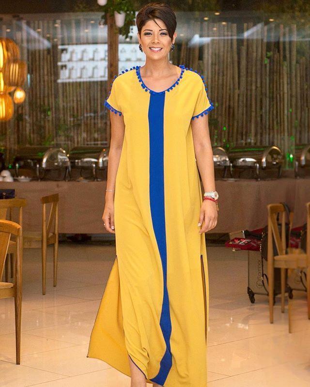 Belle gandoura de @handmadebyghitalahrichi pour la soirée @flormar_maroc merci Mehdi Sekkat pour la photo ✌️❤️ #leilahadioui#dress #morocco #love#gandoura#ramadan#caftan
