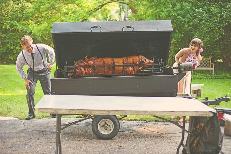 Have a pig roast at your country wedding.