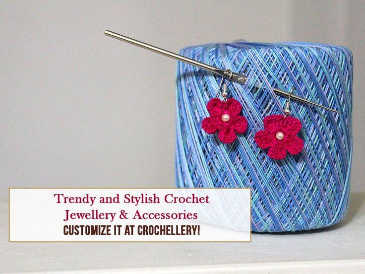 Stylish Crochet Jewellery & Accessories from Crochellery! Contact: 9898278292 #Fashion #Accessories #Jewellery #CrochetJewellery #Bags #Batwas #earrings #necklace #Crochellery #CityShorAhmedabad