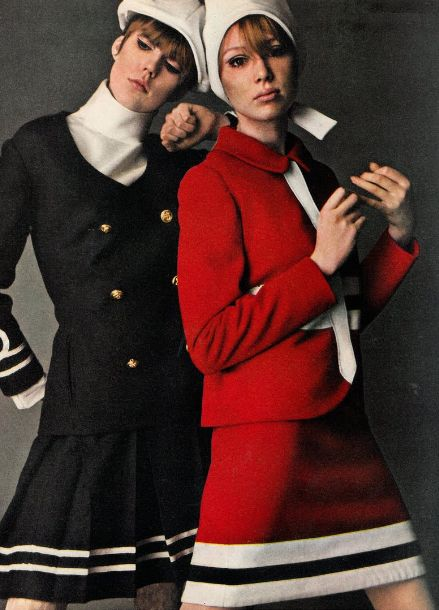 Pattie and Jenny Boyd - 1960s Nautical Suits
