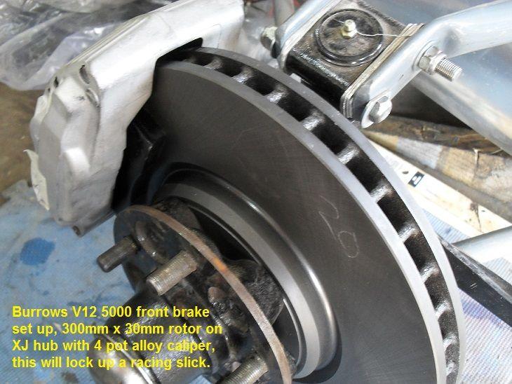 Burrows designed race brake set for Grand Prix period racer