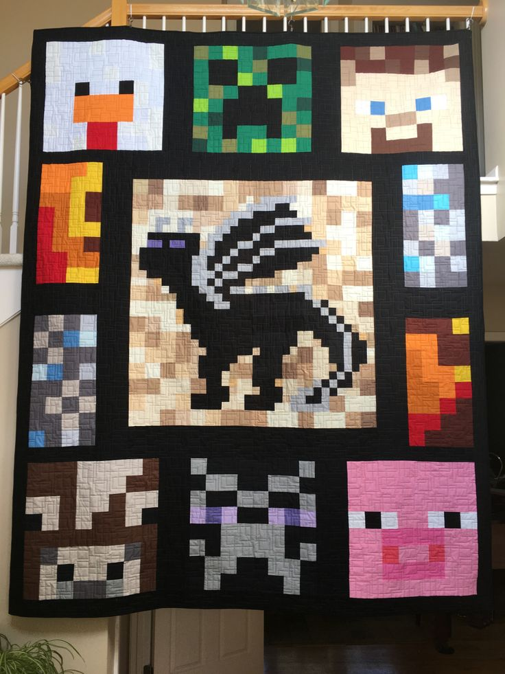 Minecraft quilt - Enderdragon                                                                                                                                                                                 More