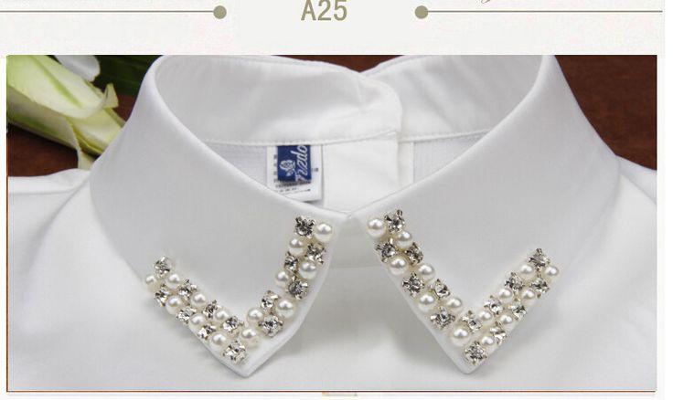 Nueva mujeres Peter Pan desmontable Collar falso accesorios de prendas de vestir correa puede ajustar falso blanco para camisetas en Corbatas y Pañuelos de Moda y Complementos Mujer en AliExpress.com | Alibaba Group