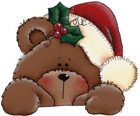 I love using this Christmas bear for our Winter Wonderland Flyers! So cute!