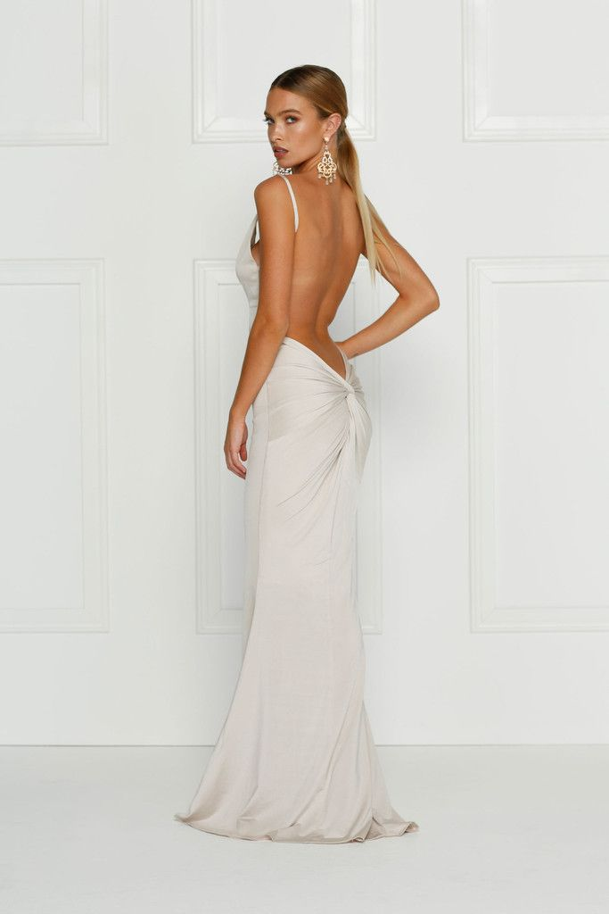 Alamour The Label - Penelope Gown - Oyster/Ivory