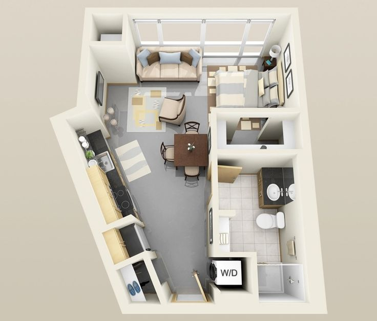 One Bedroom Apartment Floor Plans 3d 85 best 3d rooms images on pinterest | architecture, projects and