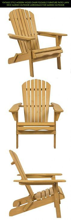 Vintage Style Modern Wood Chair Foldable Furniture Patio Lawn Deck Garden Outdoor Adirondack For Garden Outdoor #patio #racing #drone #camera #shopping #products #kmart #kit #tech #fpv #gadgets #furniture #plans #technology #parts