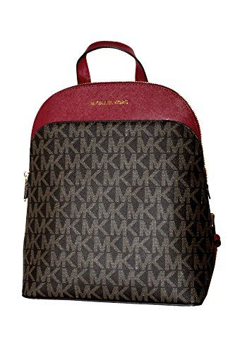 b3a881cc3790 MICHAEL Michael Kors Women s EMMY Leather Backpack (Brown... https